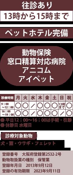 大阪府貝塚市にある動物病院の口コミ・受付【EPARKペットライフ】 | EPARKペットライフ